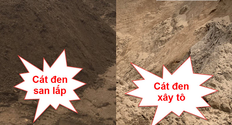 Các loại cát đen