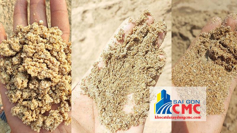 Các loại cát vàng xây dựng hiện nay