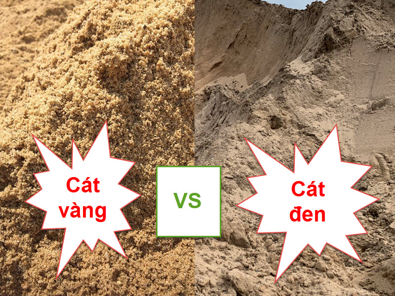 cát san lấp nên sử dụng cát đen là tốt nhất