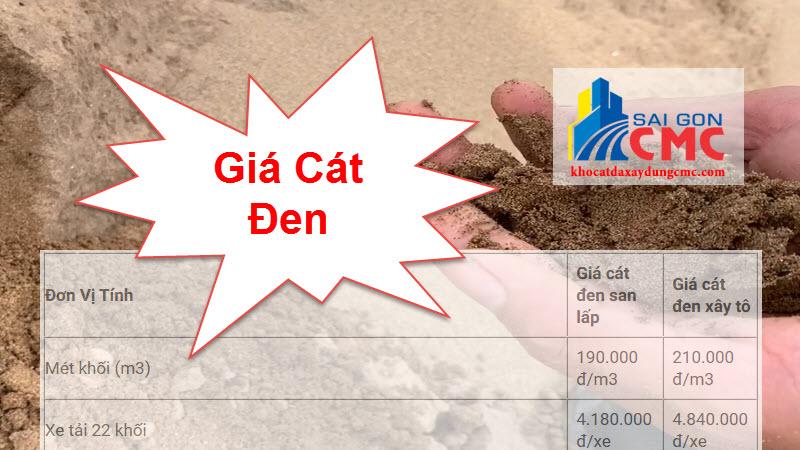 giá cát đen mới nhất tphcm