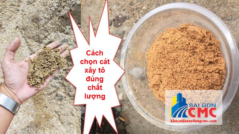 Nhận biết cát xây tô đạt chất lượng