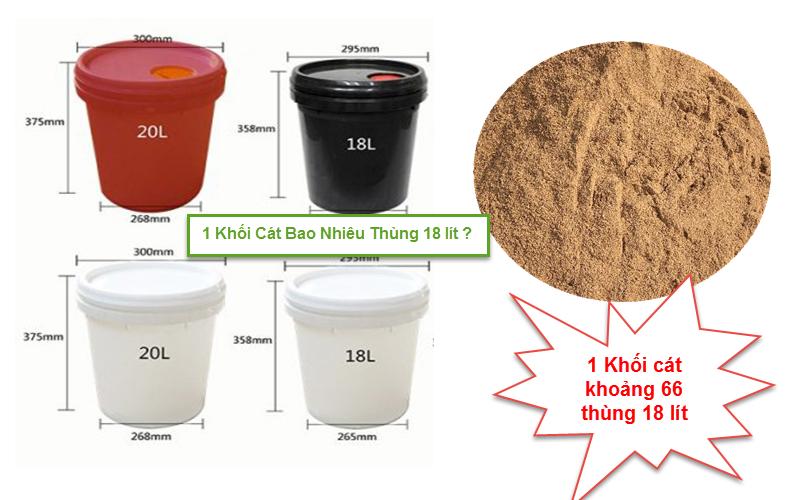 1 khối cát bao nhiêu thùng bê tông