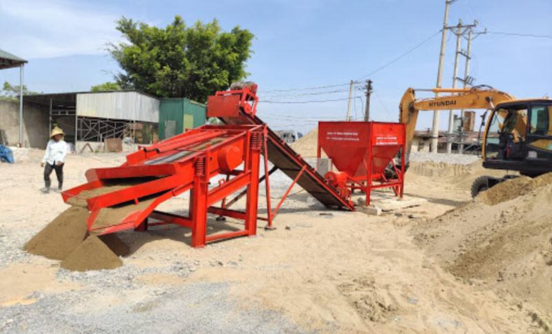 Máy sàng cát xây dựng với công suất lớn