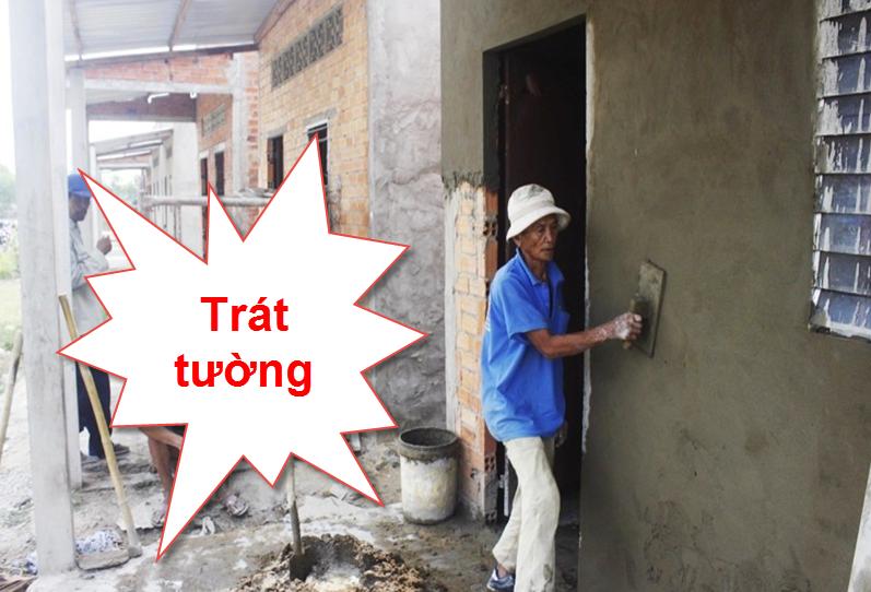 Trát tường giúp bảo vệ và tăng tính thẩm mỹ ngôi nhà
