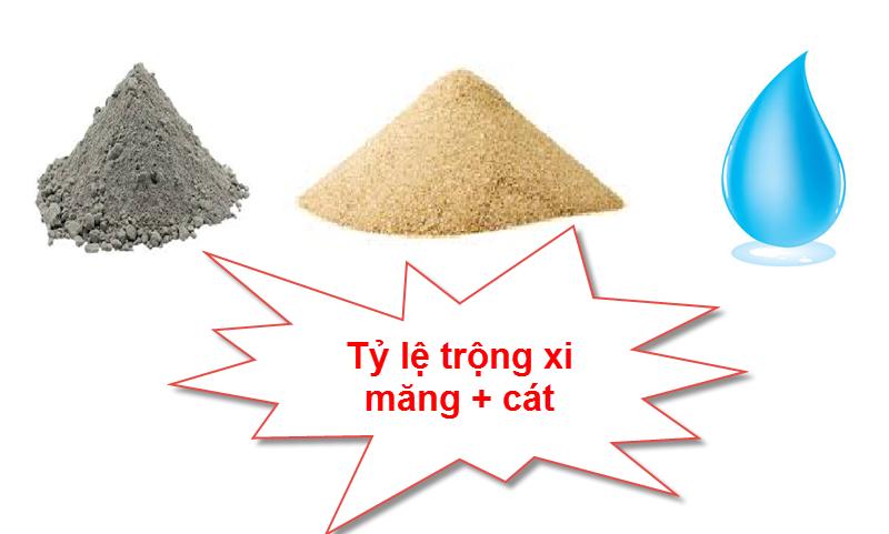Tỷ lệ trộn xi măng với cát đúng chuẩn