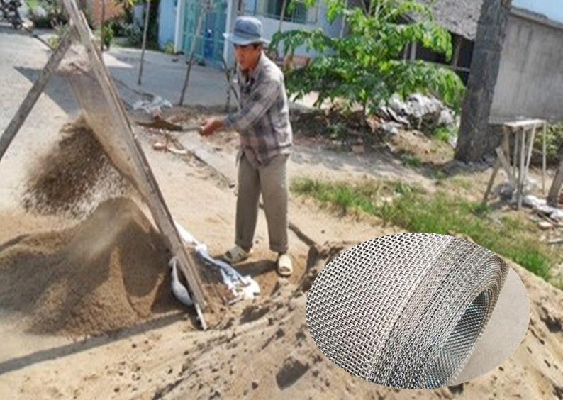 Lưới sàng cát thủ công thích hợp với các công trình nhỏ