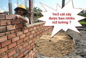 1 khối cát xây được bao nhiêu m2 tường