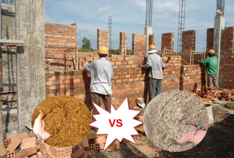 Cát xây tường dùng loại nào tốt