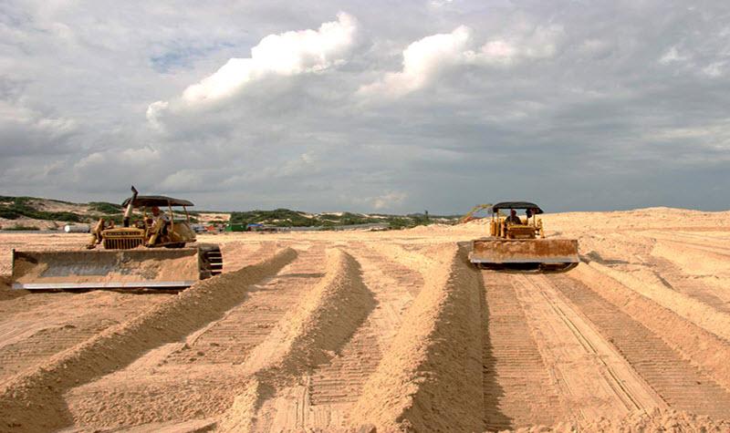 Thi công nền cát