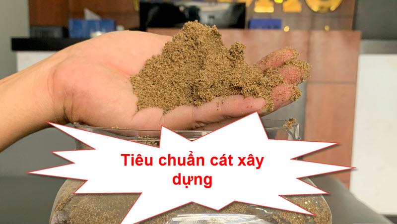 Tiêu chuẩn cát xây dựng